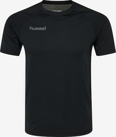 Hummel Trainingsshirt in grau / schwarz: Frontalansicht