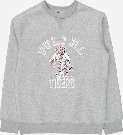 POLO RALPH LAUREN Sweatshirt in grau / pastellorange / schwarz / weiß, Produktansicht
