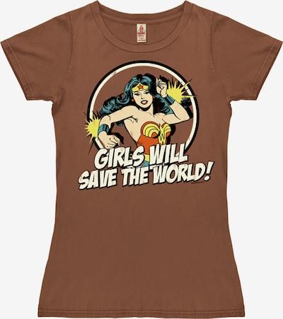 LOGOSHIRT T-Shirt in braun, Produktansicht