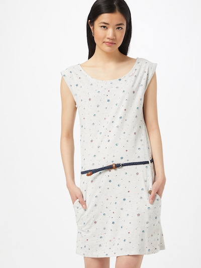 Ragwear Kleid 'Tag' in blau / braun / grau / weißmeliert, Modelansicht