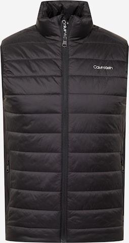 Calvin Klein Vest 'ESSENTIAL SIDE LOGO VEST' in Black