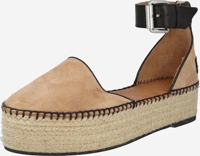 SHABBIES AMSTERDAM Sandales à lanières en camel / noir, Vue avec produit