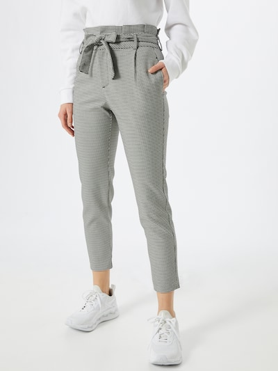 VERO MODA Plisované nohavice 'EVA' - čierna / biela, Model/-ka