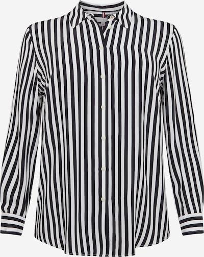 Tommy Hilfiger Curve Bluse in dunkelblau / weiß, Produktansicht
