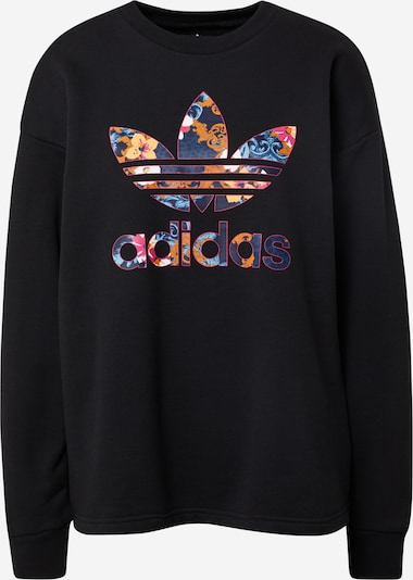 ADIDAS ORIGINALS Sweatshirt 'HER Studio London Sweatshirt' in blau / orange / rot / schwarz / weiß, Produktansicht