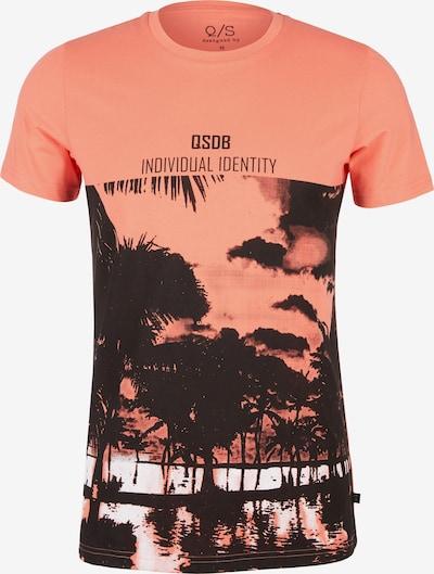 Q/S designed by T-Shirt in orange / schwarz: Frontalansicht