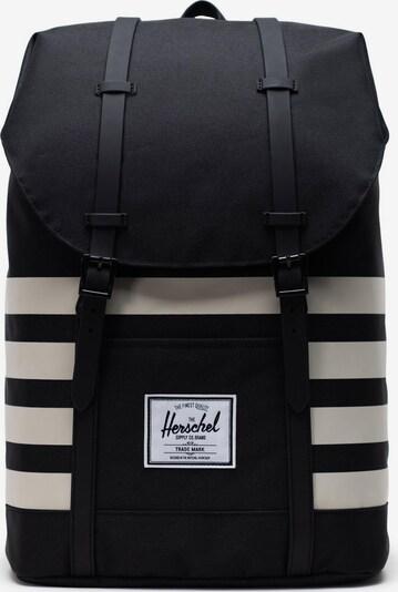 Herschel Rucksack 'Retreat' in hellgrau / schwarz / weiß, Produktansicht