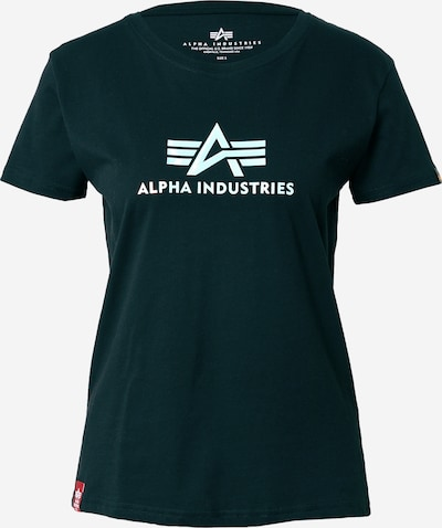 ALPHA INDUSTRIES Camiseta 'Rainbow' en negro / blanco, Vista del producto
