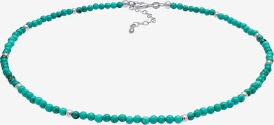 Nenalina Halskette Edelsteinkette in türkis / grün / silber, Produktansicht