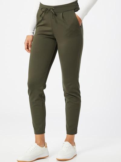 Pantaloni cutați 'Pretty' JACQUELINE de YONG pe kaki, Vizualizare model