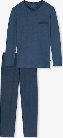 SCHIESSER Pyjamas lang i blå