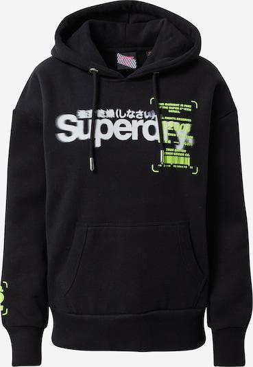 citromzöld / fekete / fehér Superdry Tréning póló, Termék nézet