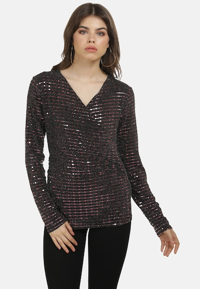 myMo at night Blouse in de kleur Lila / Zwart, Modelweergave
