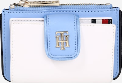 TOMMY HILFIGER Portemonnee 'City' in de kleur Lichtblauw / Wit, Productweergave
