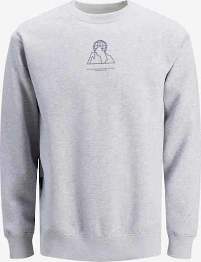JACK & JONES Sweatshirt 'Deacon' in dunkelgrau / graumeliert, Produktansicht