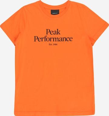 T-Shirt PEAK PERFORMANCE en orange