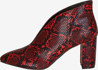 Rock Your Curves by Angelina K. Stiefelette in rot / schwarz, Produktansicht