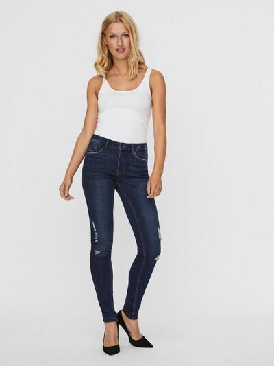 VERO MODA Jeans in blue denim / dunkelblau, Modelansicht