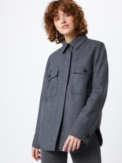 BOSS Casual Bluse 'Johoxton' in graumeliert, Modelansicht