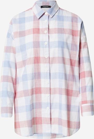 Trendyol Bluse in rauchblau / pastellrot / weiß, Produktansicht