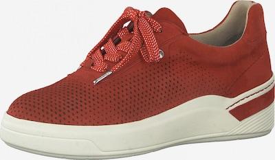 Tamaris Pure Relax Baskets basses en rouge sang, Vue avec produit