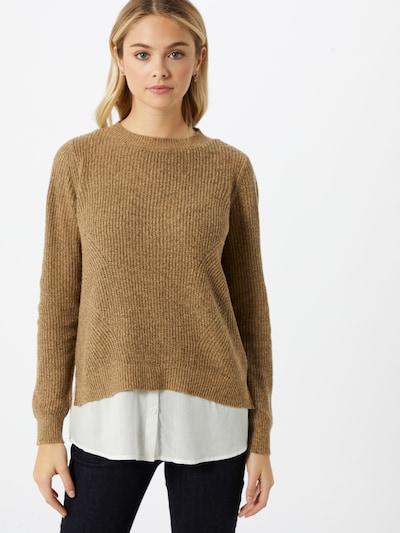 VERO MODA Pullover in braun / weiß, Modelansicht