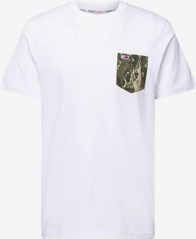 Tommy Jeans T-Shirt in hellbraun / khaki / weiß, Produktansicht