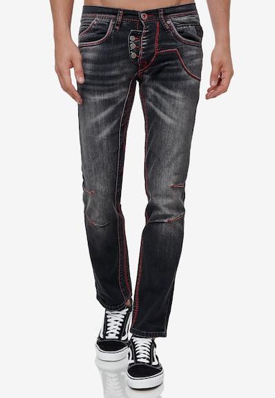 Rusty Neal Jeans 'RUBEN 45' in schwarz, Modelansicht