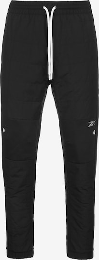REEBOK Sporthose 'MYT Quilted' in schwarz / weiß, Produktansicht
