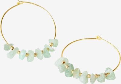 Matica Jewellery Boucles d'oreilles en or / vert pastel, Vue avec produit