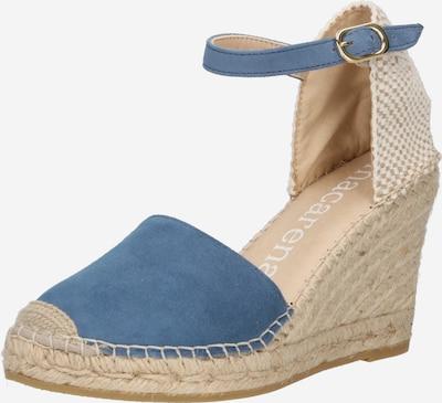 MACARENA Sandały 'CARLA 6' w kolorze szarobeżowy / jasny beż / podpalany niebieskim, Podgląd produktu