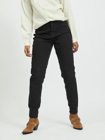 VILA Mom Jeans 'Amalia' in black denim, Modelansicht