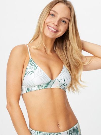 RIP CURL Bikini zgornji del 'COASTAL PALMS' | bež / zelena / bela barva, Prikaz modela