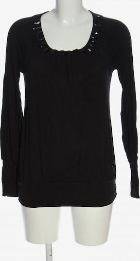 Fracomina Langarm-Bluse in S in schwarz, Produktansicht