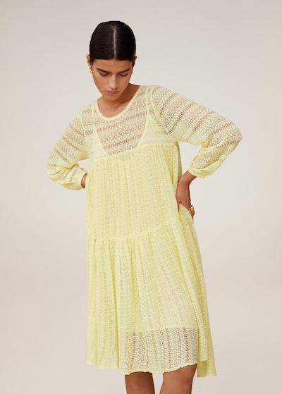 MANGO Kleid `marie´ in hellgelb, Modelansicht