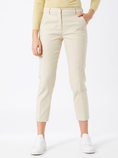 Weekend Max Mara Pantalon à pince en crème, Vue avec modèle