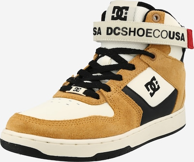 DC Shoes Hög sneaker 'PENSFORD' i konjak / svart / vit, Produktvy