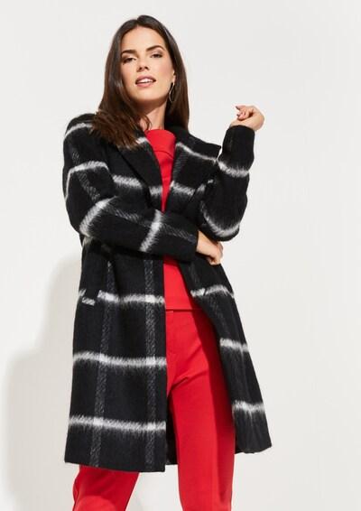 COMMA Mantel in schwarz / weiß, Modelansicht