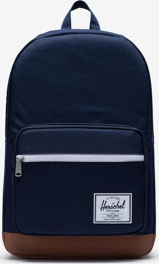 Herschel Rygsæk i mørkeblå / lysebrun / hvid, Produktvisning