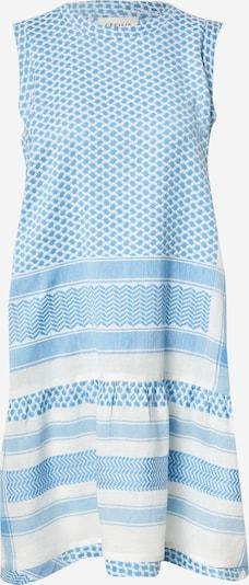 Cecilie Copenhagen Robe d'été en turquoise / blanc, Vue avec produit