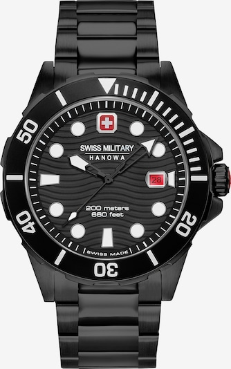 SWISS MILITARY HANOWA Uhr in schwarz, Produktansicht