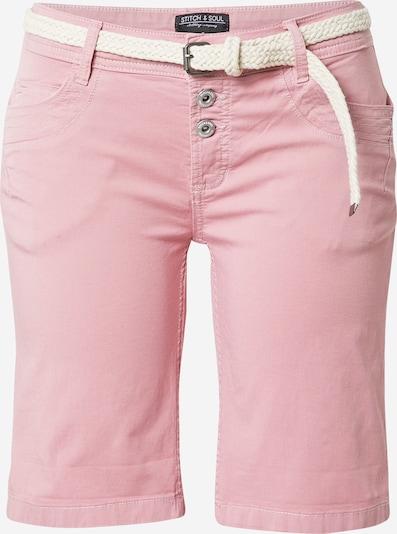 Pantaloni Stitch and Soul pe bej / roz deschis, Vizualizare produs