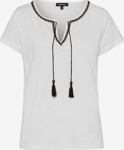 Tricou MORE & MORE pe negru / alb, Vizualizare produs