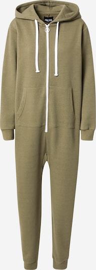 PIECES Jumpsuit 'CHILLI' en verde oscuro / blanco, Vista del producto