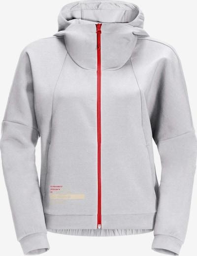 JACK WOLFSKIN Functionele fleece jas in de kleur Lichtgrijs / Rood, Productweergave