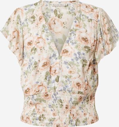 Abercrombie & Fitch Bluza u svijetloplava / maslinasta / pastelno zelena / prljavo roza / bijela, Pregled proizvoda