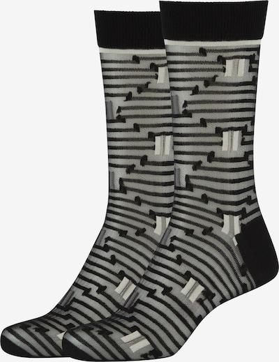 FUN Socks Crew Socks 'Optic Stripes' in schwarz, Produktansicht