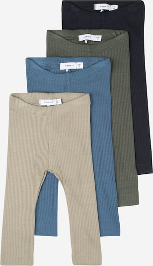NAME IT Leggings in blau / dunkelblau / khaki / grasgrün, Produktansicht