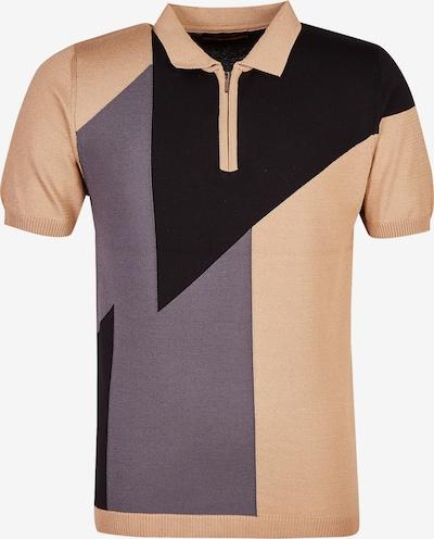 Leif Nelson T-Shirt in beige / grau / schwarz, Produktansicht