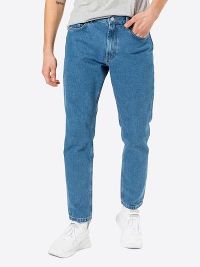 Džinsai iš NU-IN , spalva - tamsiai (džinso) mėlyna, Modelio vaizdas